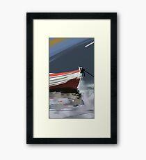 Fishermans boat deconstruction Framed Print