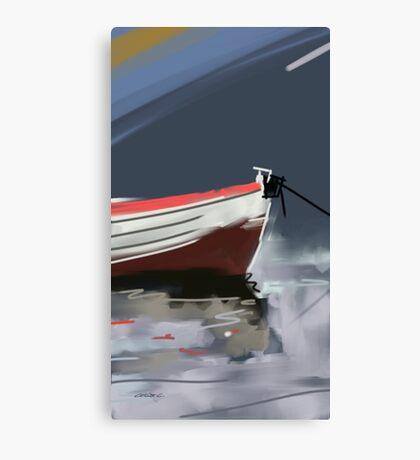 Fishermans boat deconstruction Canvas Print