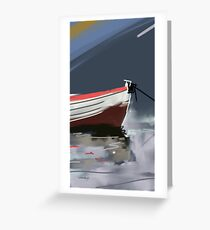 Fishermans boat deconstruction Greeting Card