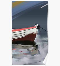 Fishermans boat deconstruction Poster