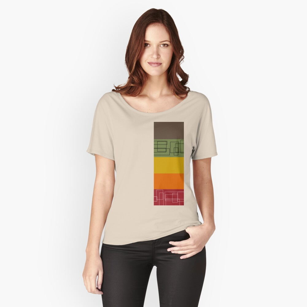 Colorful Stripes Women's Relaxed Fit T-Shirt Front