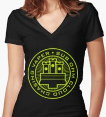 Sub Ohm Vaper Women's Fitted V-Neck T-Shirt
