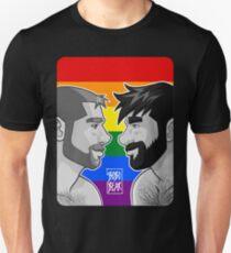 ADAM + BEN - GAYPRIDE - BLACK/WHITE Unisex T-Shirt