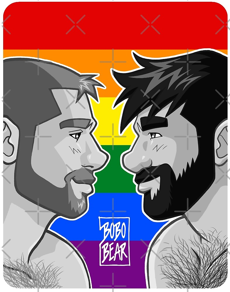 ADAM + BEN - GAYPRIDE - BLACK/WHITE by bobobear
