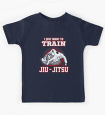I Just Want To Train Jiu Jitsu Kids Tee