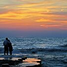 Lover's Sharing An Erie Sunset by Geno Rugh