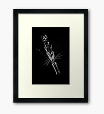 Brush and Ink - 0164 - Chilly Night Fox Framed Print