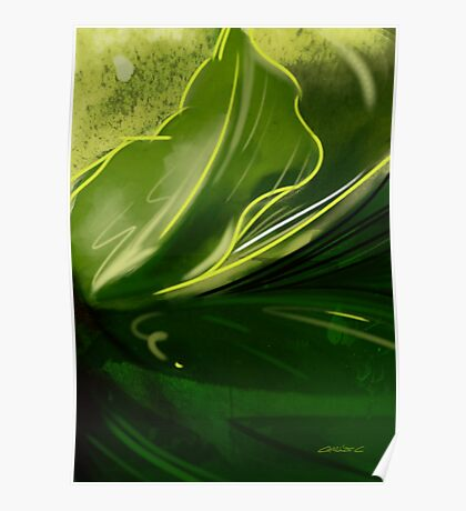 Self-reflecting leaf Poster