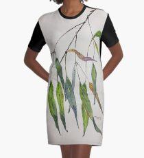 Gum leaves - Botanical illustration Graphic T-Shirt Dress