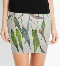 Gum leaves - Botanical illustration Mini Skirt