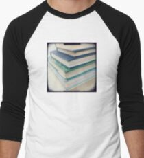 Pile of books - blue Men's Baseball ¾ T-Shirt