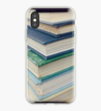 Pile of books - blue iPhone Case