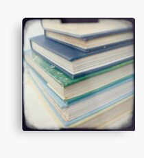Pile of books - blue Metal Print