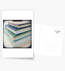 Pile of books - blue Postcards