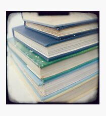 Pile of books - blue Photographic Print