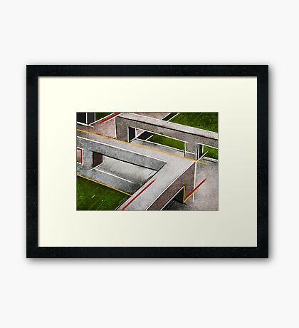Concrete footbridge I Framed Print