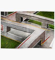 Concrete footbridge I Poster