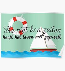 Quote sailing (NL) Poster