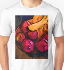 Pink Apples and Gold Bananas Unisex T-Shirt