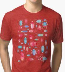Watercolor Beetles Tri-blend T-Shirt