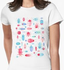 Watercolor Beetles Women's Fitted T-Shirt