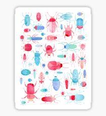 Watercolor Beetles Sticker
