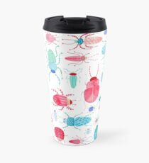 Watercolor Beetles Travel Mug