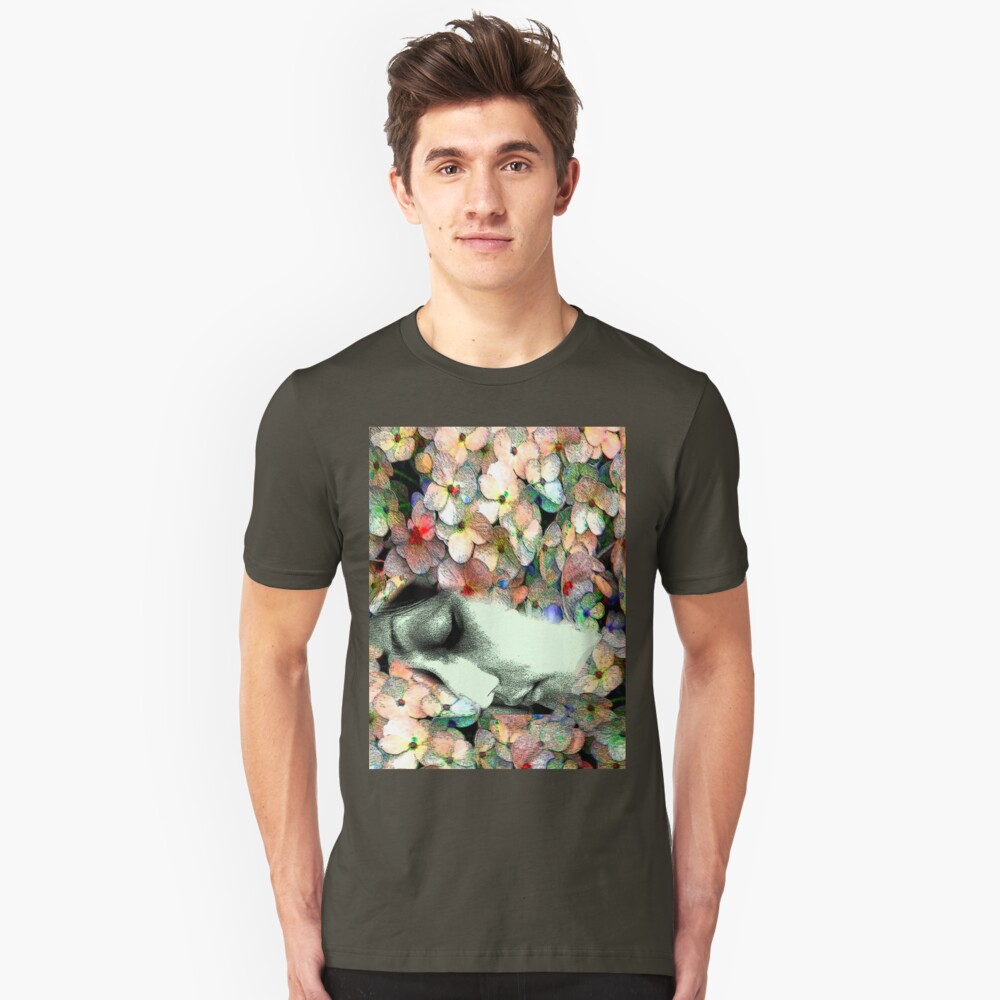 sleeping in the flower Unisex T-Shirt Front