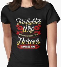 Firefighters Wife - I Married Mine T-Shirt