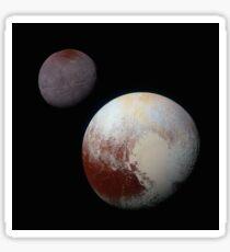 New Horizons - Charon and Pluto (2015) Sticker