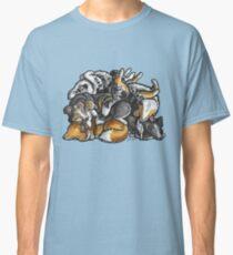 Sleeping pile of Shetland Sheepdogs Classic T-Shirt