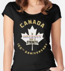 Canada 150 Diversity Women's Fitted Scoop T-Shirt