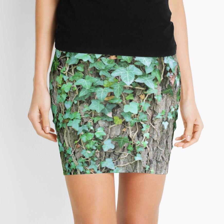 Ivy leaves on Oak tree Mini Skirt