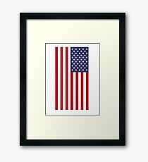 USA - American Flag - Cell Phone Cover Framed Print