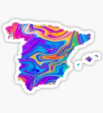 Spain Map Oil Sticker