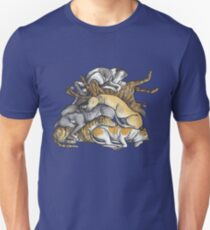 Sleeping pile of Greyhound dogs T-Shirt