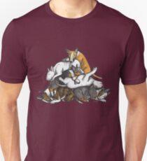 Sleeping Pile of Bull Terriers T-Shirt
