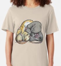 Sleeping Pile of Pet Rats Slim Fit T-Shirt