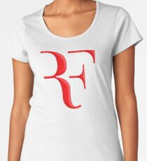 rf, roger federer, roger, federer, tennis, wimbledon, grass, tournament, ball, legend, sport, australia, nadal, net, cool, logo, perfect. Women's Premium T-Shirt