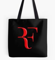 rf, roger federer, roger, federer, tennis, wimbledon, grass, tournament, ball, legend, sport, australia, nadal, net, cool, logo, perfect. Tote Bag