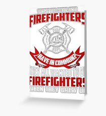 Firefighter Shirt Cheap - Firefighters vs Cops T-Shirts Greeting Card