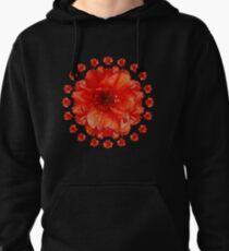 Poppy Field Mandala Pullover Hoodie