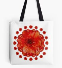 Poppy Field Mandala Tote Bag