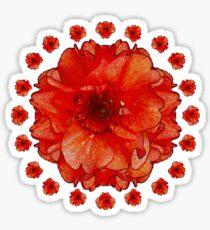 Poppy Field Mandala Sticker