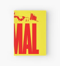 animal, fitness, muscle, strong, bodybuilding, logo, symbol, nutrition, vitamin, booster, barbell, club. Hardcover Journal