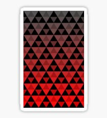 Tri-Pattern (Red Gradient) Sticker