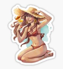Beach Girl, Sexy Summer Girl Sticker