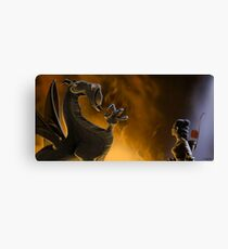 """The Dragon considered the request..."" Canvas Print"