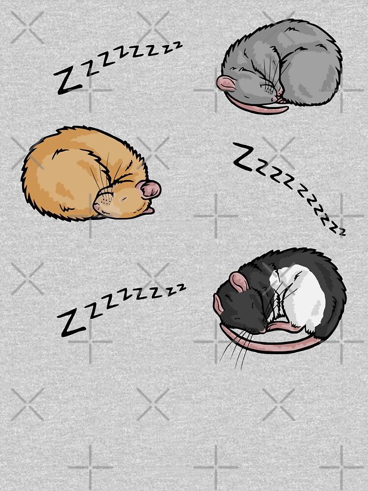 Sleeping rats by animalartbyjess
