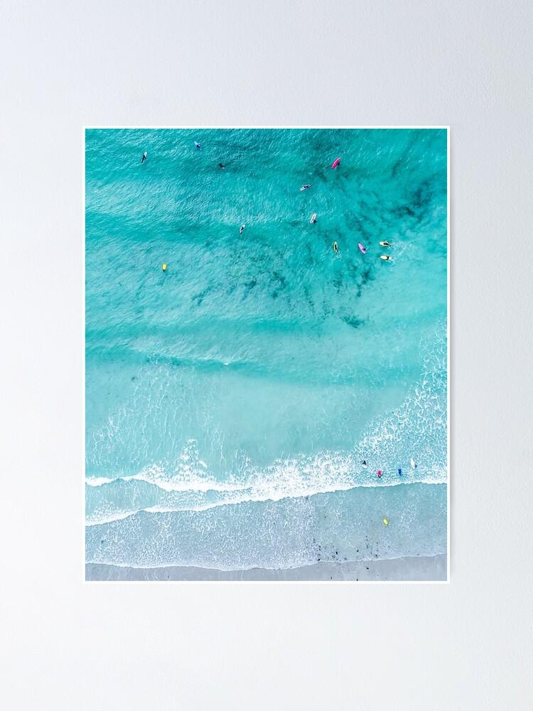 imagen de arte cartel Mar Océano Beach Lámina-Amor por escrito en la arena